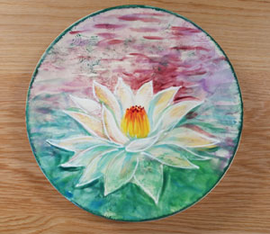 Dublin Lotus Flower Plate